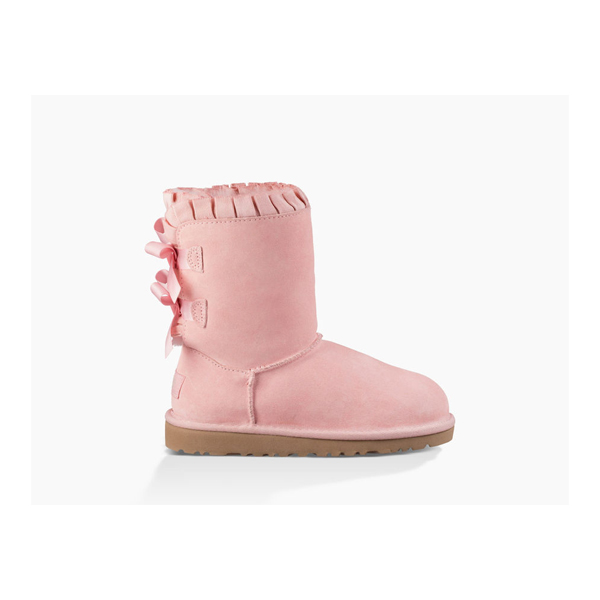 KIDS' UGG BAILEY BOW RUFFLES BABY PINK ON SALE