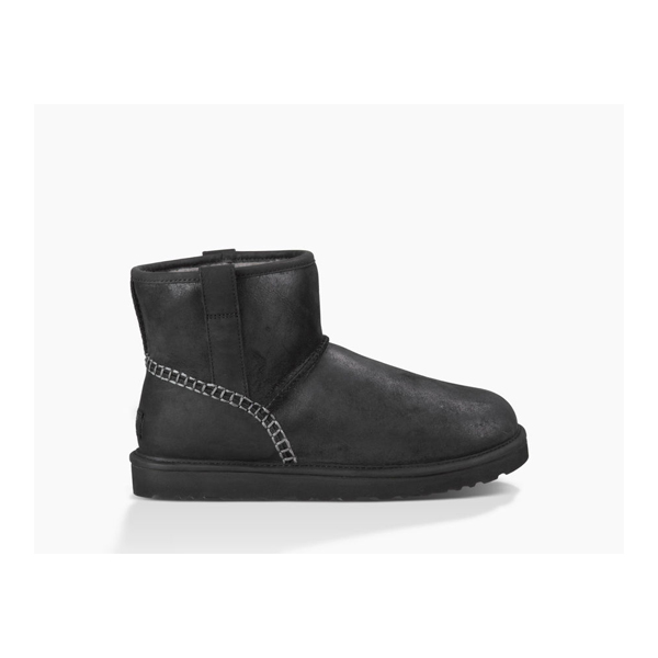 MEN'S UGG CLASSIC MINI STITCH BLACK ON SALE