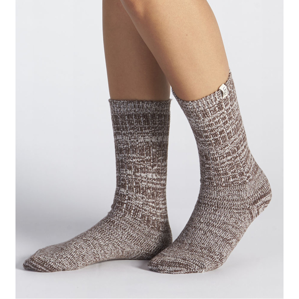 WOMEN'S UGG RIB KNIT SLOUCHY CREW SOCK DEMITASSE ON SALE
