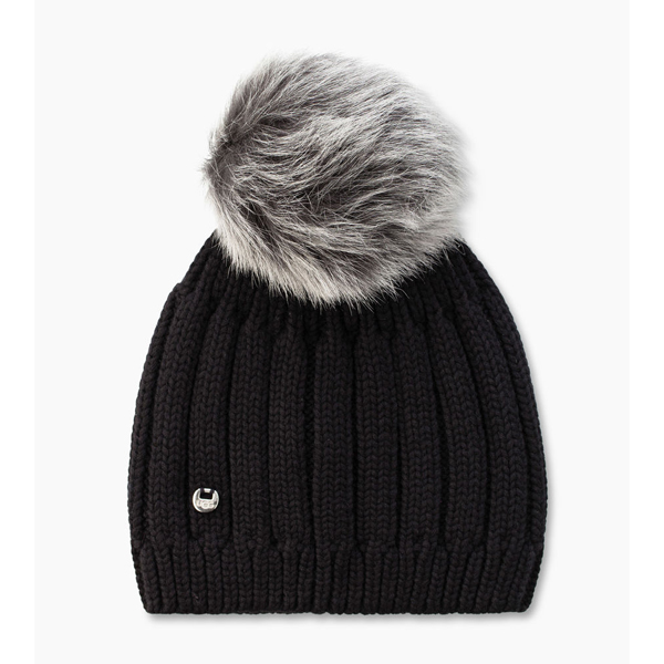 WOMEN'S UGG SOLID RIBBED BEANIE BLACK M ON SALE