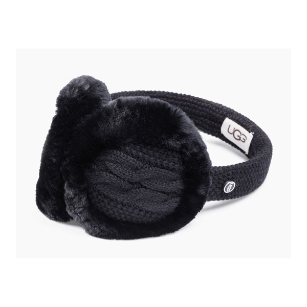 WOMEN'S UGG WIRED CABLE EARMUFF BLACK M ON SALE