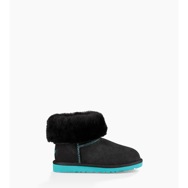 TODDLERS UGG CLASSIC BLACK / ACAPULCO ON SALE
