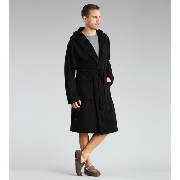 MEN'S UGG BRUNSWICK ROBE BLACK ON SALE