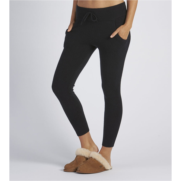 WOMEN'S UGG HELEN CASHMERE JOGGERS BLACK ON SALE