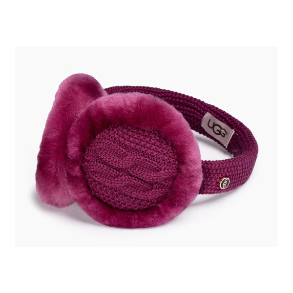 WOMEN'S UGG WIRED CABLE EARMUFF BOUGAINVILLEA M ON SALE