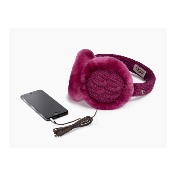 WOMEN\'S UGG WIRED CABLE EARMUFF BOUGAINVILLEA M ON SALE