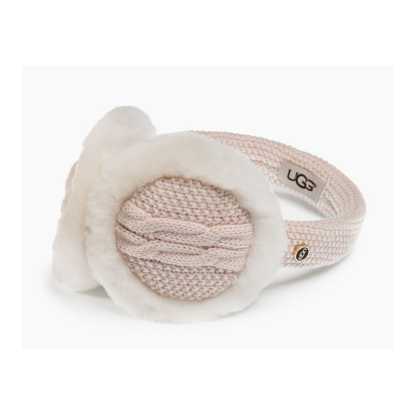 WOMEN'S UGG WIRED CABLE EARMUFF FRESHWATER PEARL M ON SALE