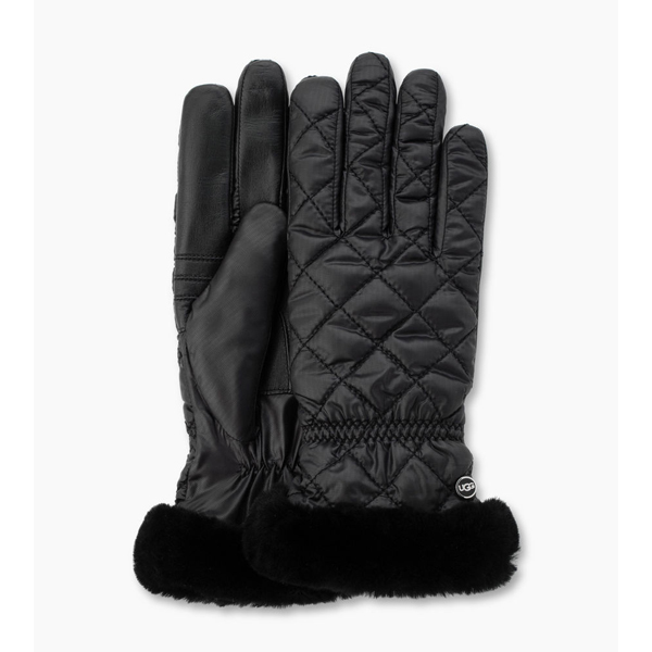 WOMEN\'S UGG QUILTED FABRIC SMART GLOVE BLACK MULTI ON SALE