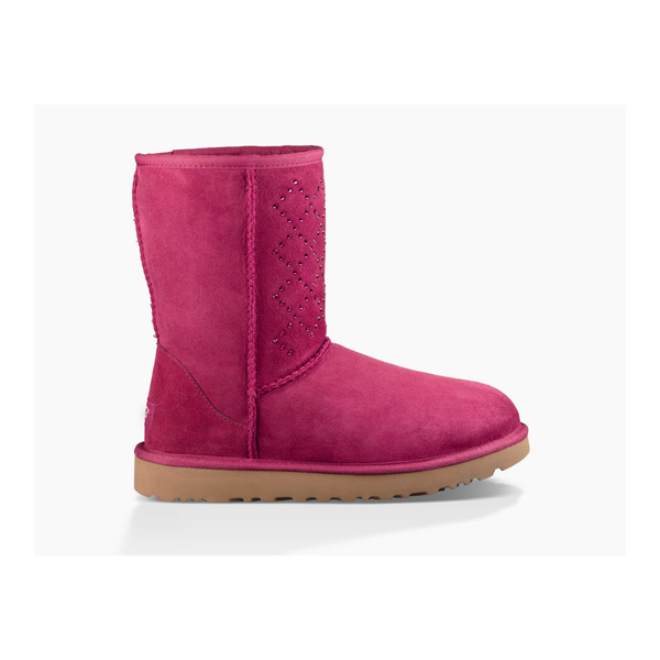WOMEN'S UGG CLASSIC SHORT CRYSTAL DIAMOND OXBLOOD ON SALE