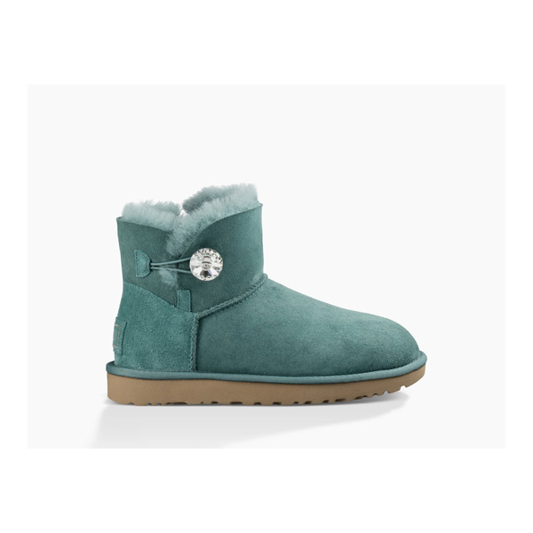 WOMEN'S UGG MINI BAILEY BUTTON BLING ATLANTIC ON SALE