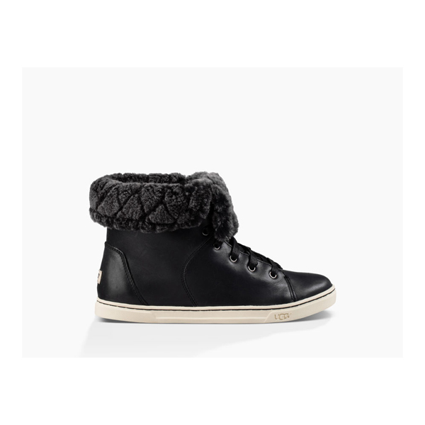 WOMEN'S UGG CROFT LUXE QUILT BLACK ON SALE